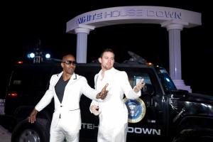 Jamie Foxx ja Channing Tatum tähdittävät Roland Emmerichin ohjaamaa White House Down -toimintaelokuvaa. Cancunissa miehet hurmasivat tanssilattialla. Jamie innostui myös tiskijukan hommista.