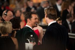 Voittajan, Matthew McConaughey (Dallas Buyers Club), on helppo hymyillä. ©HFPA