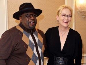 Cedric the Entertainer ja Meryl Streep tapasivat tänään Waldorf Astoria -hotellissa New Yorkissa HFPA:n haastatteluiden välissä. Meryl Streep nähdään noitana fantasiamusikaalissa Into the Woods. Cedric the Entertainer viihdyttää komediassa Top Five.
