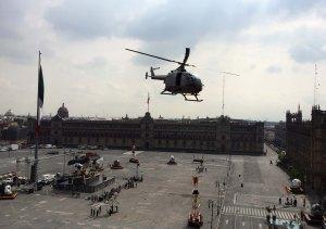 Aukio oli neljä päivää Spectre-elokuvatiimin käytössä. Tätä helikopteriotosta kuvattiin useaan otteeseen.