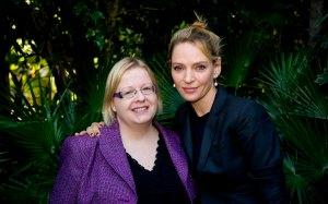 Selkeästi tammikuussa lempiyhdistelmäni on ollut musta ja lila. Samalla yhdistelmällä tapasin The Slap -sarjan näyttelijäkastin. Tässä Uma Thurman ennen kohua siitä, mitä hänen kasvoilleen tapahtui. Juorut sikseen, Uma on relannut hurjasti sitten Kill Bill -aikojen. Kuva: HFPA
